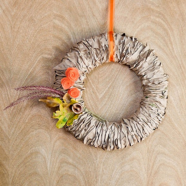 Recycled Paper Beautiful Wreath