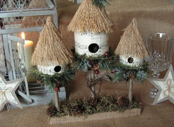 Recycled Paper Christmas Decor