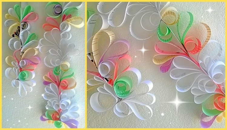 Wall Decor Ideas Using Paper : Recycled paper wall decor ideas things