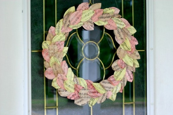 Recycled Paper Elegant Wreath