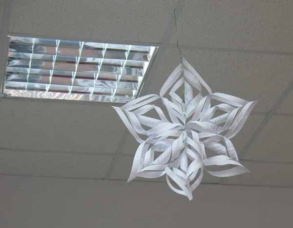 Recycled Paper Handmade Christmas Decor Snowflake