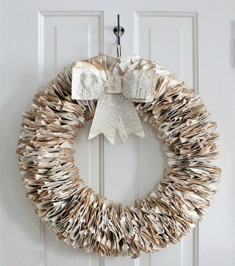 Christmas Wall Decor Recycled : Recycled paper wall decor ideas things