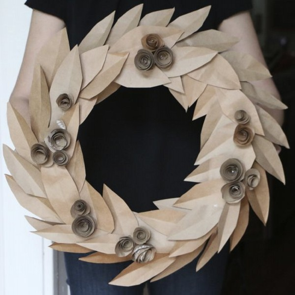 Recycled Paper Wall Wreath