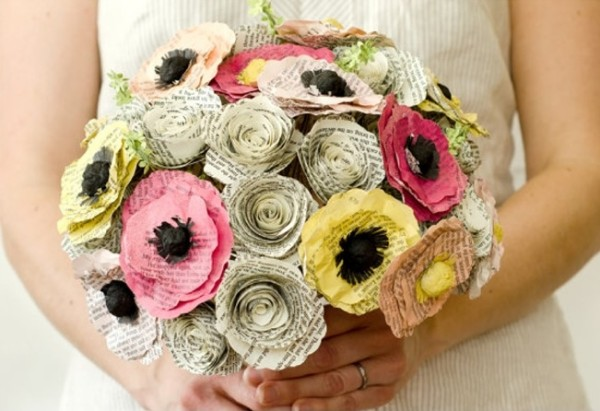 Elegant flowers made from recycled paper recycled things recycled paper wedding flowers mightylinksfo