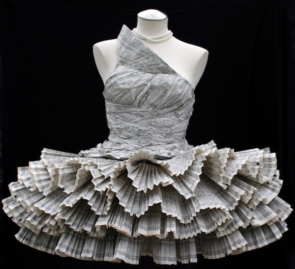 Recycled Papers Awesome Dress