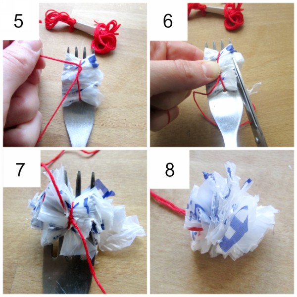 Recycled Plastic Bag Flower