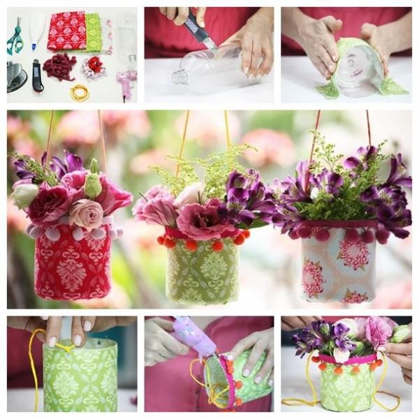 Recycled Plastic Bottles Innovative Flower Pots
