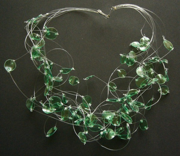 Recycled Plastic Bottles Jewelry Necklace