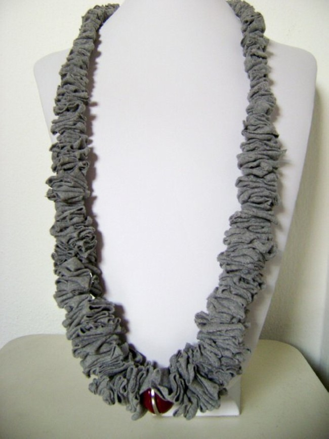 Recycled T-shirt Nacklace