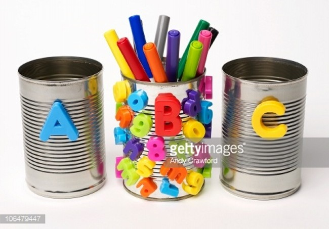 Recycled Tin Cans Pen&Stationary Holders