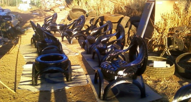 Recycled Tires Furniture Sofa & Tables