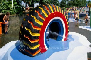 Kids Playground Made from Recycled Tires