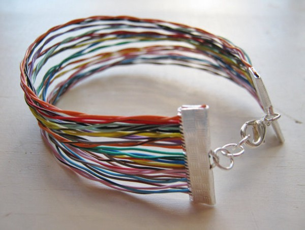 Recycled Wires Bracelet
