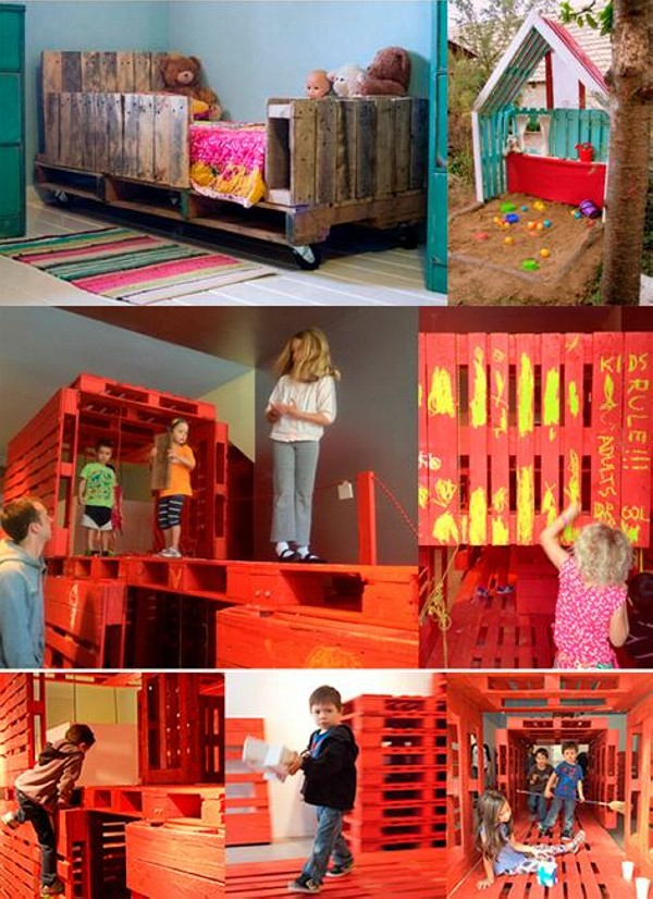 Recycled Wood Pallets Kids Playground