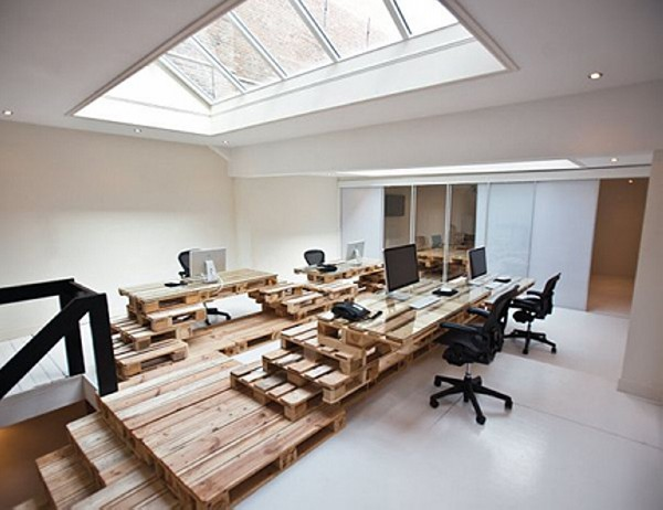 Recycled Wooden Pallet Office Furniture