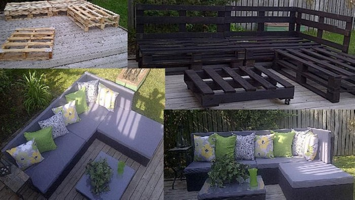 patio furniture made from recycled wooden pallets. Black Bedroom Furniture Sets. Home Design Ideas