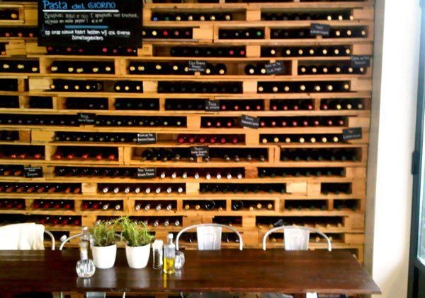 Recycled Wooden Pallet into Wine Rack
