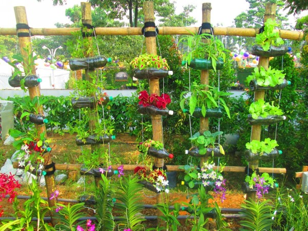 Recycled plastic bottles gardening ideas recycled things for Plastic bottle ideas