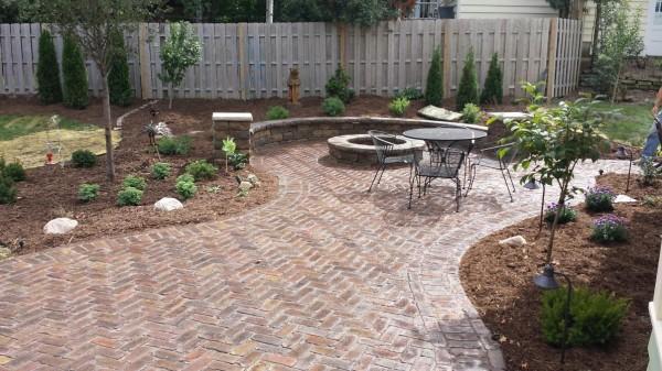 Repurposed Brick Patio