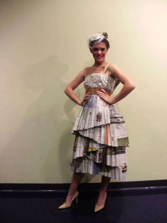 Repurposed Newspaper Dress
