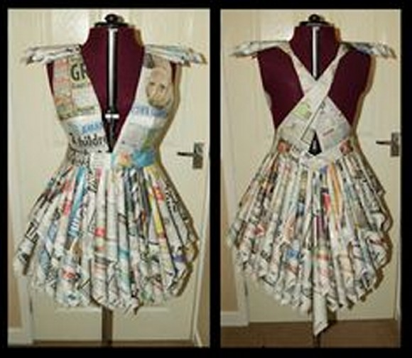 Resuse Paper Lady Dress Idea