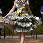 Reuse Newspaper Dress