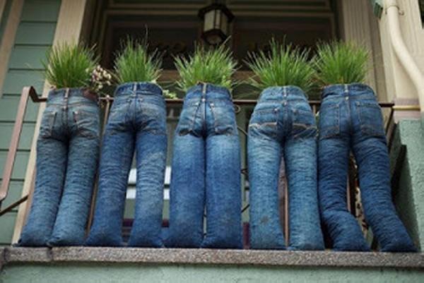 Upcycled Denims Garden Planter