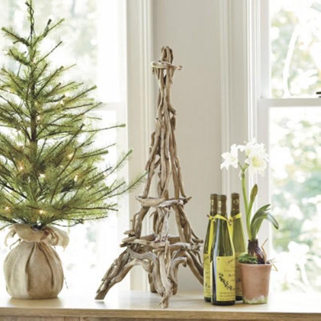 Upcycled Driftwood Decor Eiffel
