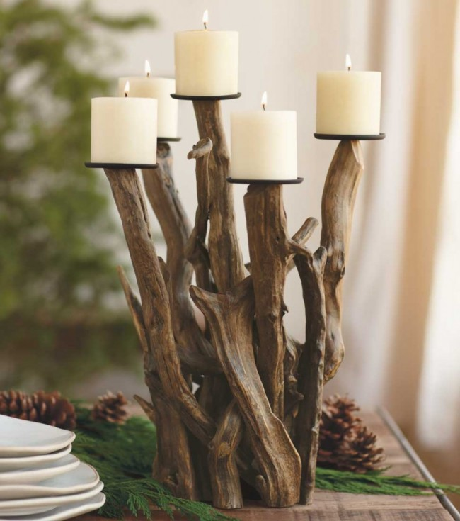 Upcycled Driftwood Decoration Candle Lights