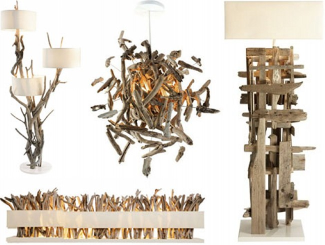 Upcycled Driftwood Decoration Light & Lamps
