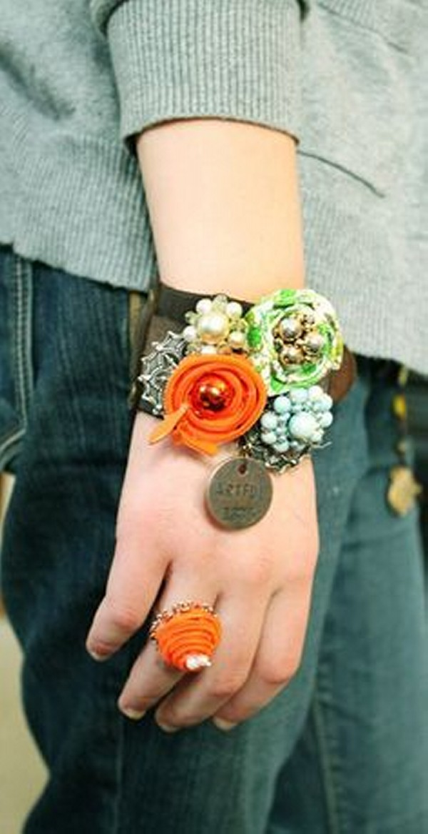 Upcycled Fabrics Jewelry Bracelet