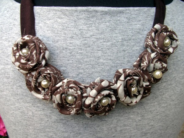 Upcycled Fabrics Jewelry Idea