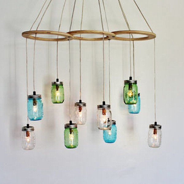 Upcycled Mason Jars Chandelier