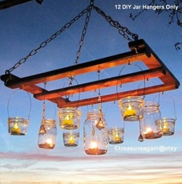 Upcycled Mason Jars Elegant Chandelier