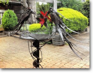 Recycled Metal Garden Decor Ideas