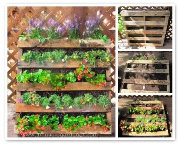 Upcycled garden planters recycled things for Recycle pallets as garden planters