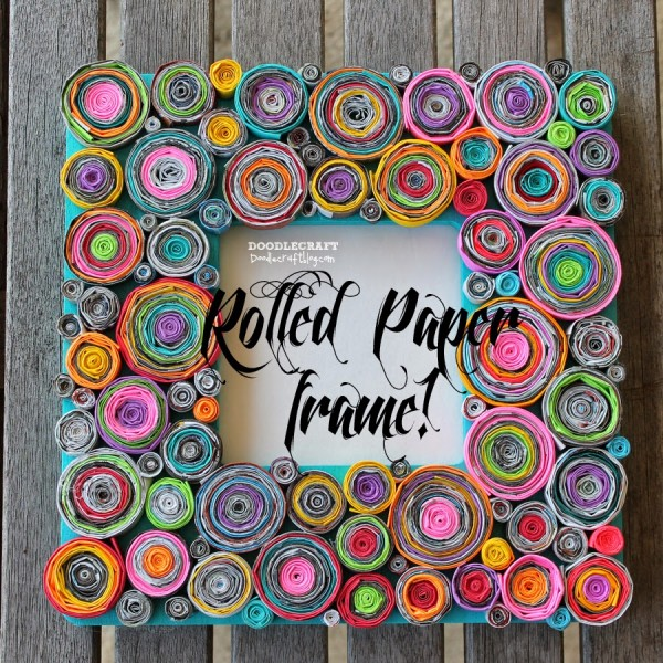 Upcycled Rolled Papers Frame