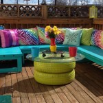 Upcycled Tires Furniture Table