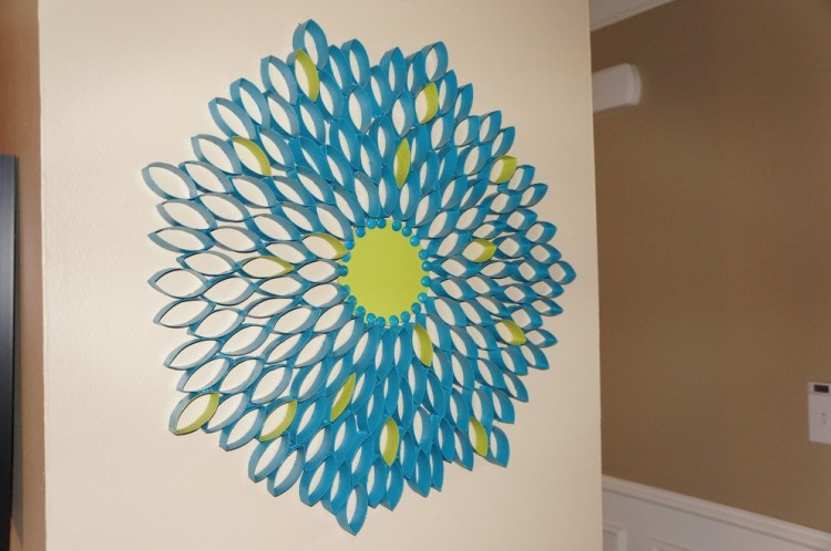 Recycled paper wall decor ideas recycled things for Art and craft for wall decoration
