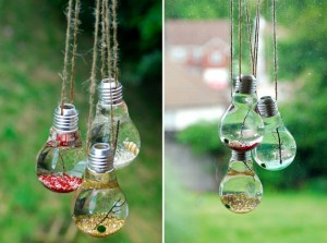 DIY Decoration from Old Bulbs