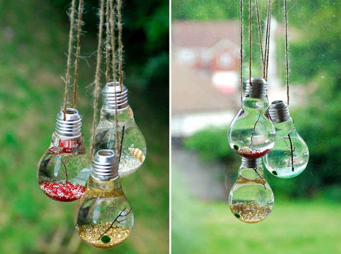 Diy Crafts With Glitter Light Bulbs