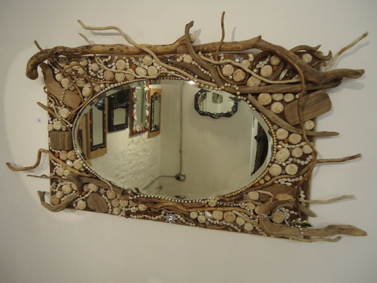 Wall Art Mirror Ideas : Driftwood wall decoration recycled things