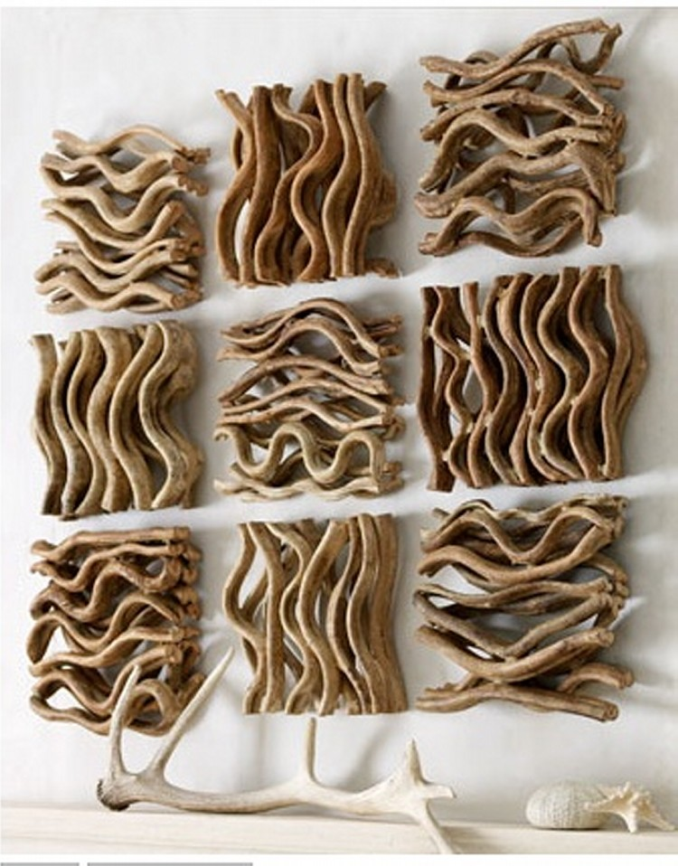 driftwood wall decoration recycled things