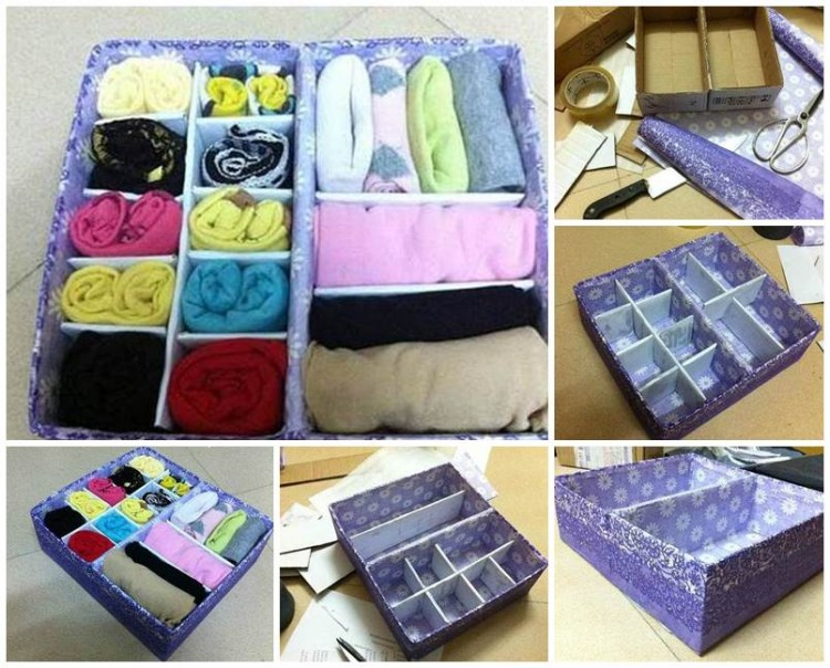 Diy storage organizer ideas recycled things for Easy diy recycled projects