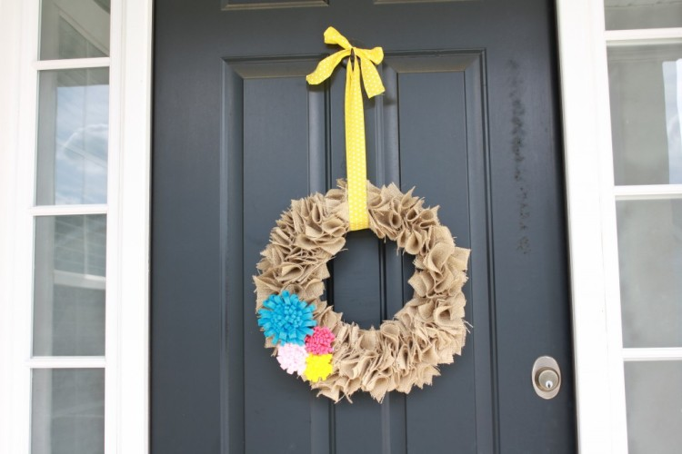 DIY Spring Wall Wreath