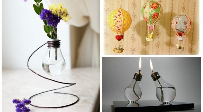 Decoration from Recycled Bulbs