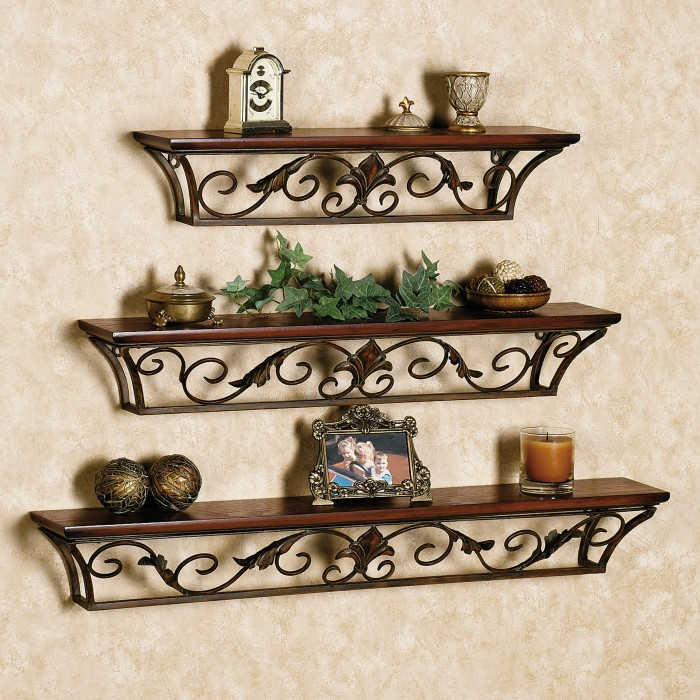Decorative modern wall shelves recycled things for Decorative things
