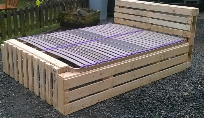 Recycled Pallet Bed Frame Projects | Recycled Things