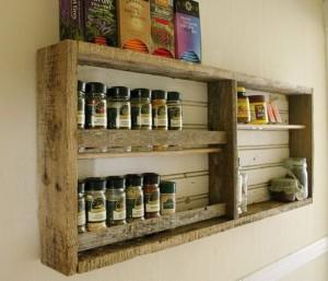 Pallet Kitchen Shelves & Racks