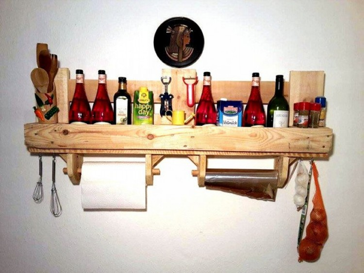 Kitchen Shelves Made From Wooden Pallet | Recycled Things